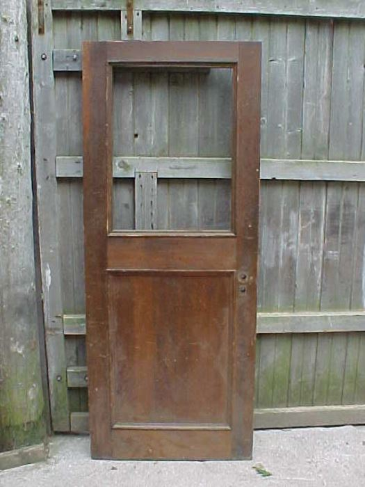 Old house parts company architectural salvage antique for Half glass exterior door